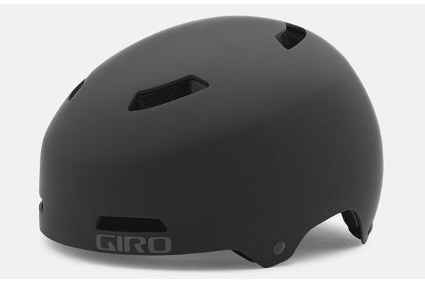 stock image of black giro dime helmet