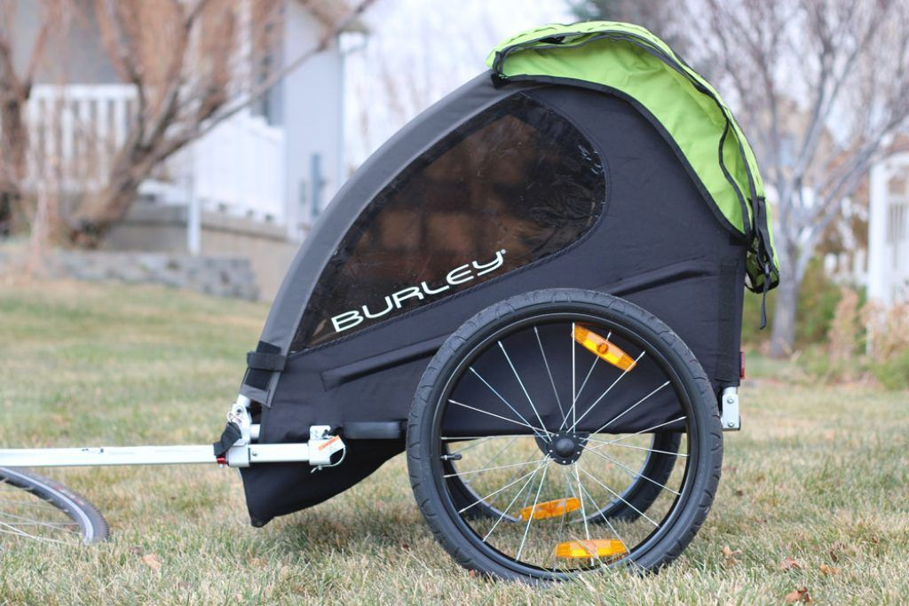 side profile of the burley minnow bike trailer