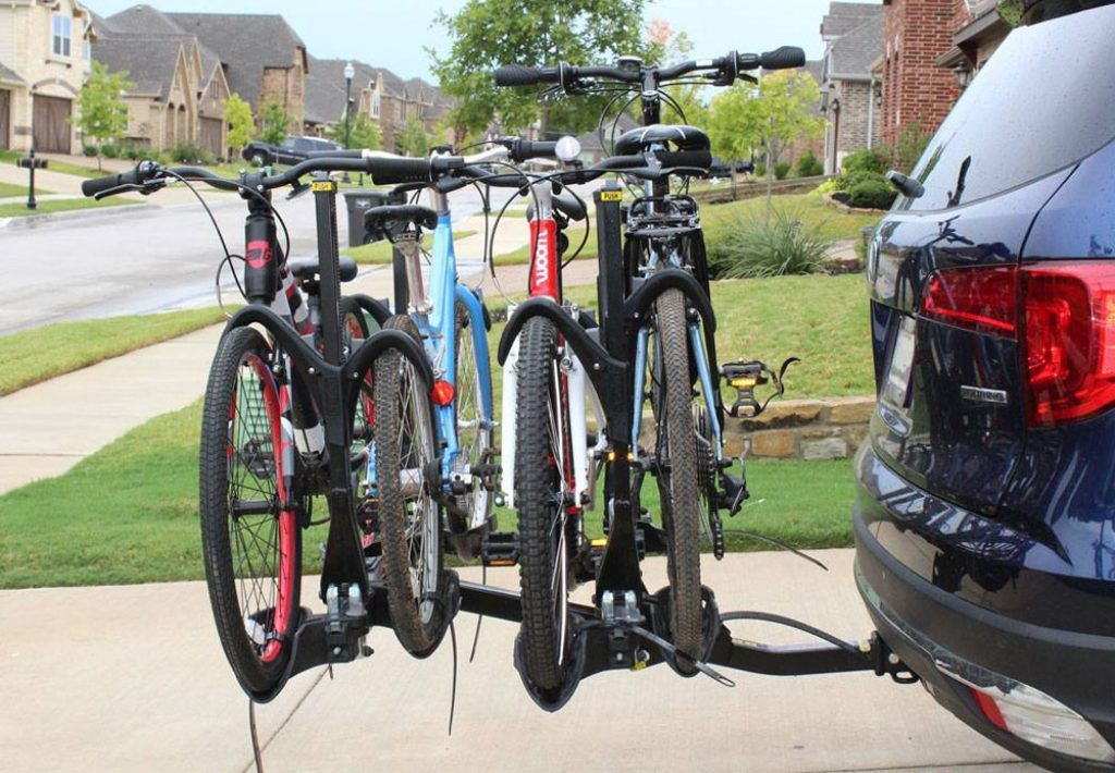 Saris Superclamp 4 platform bike rack attached to a bike