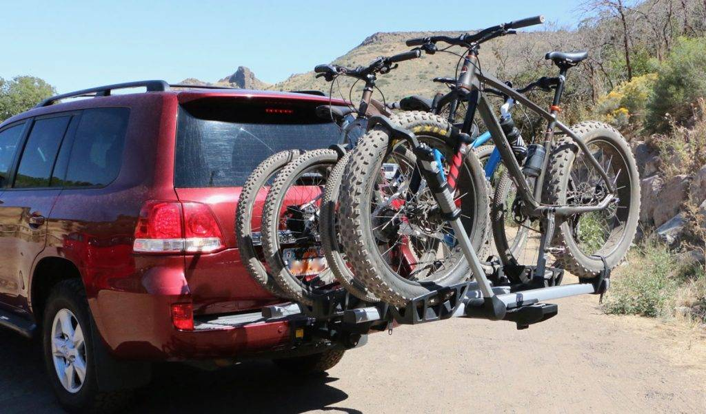 Bicycle Carrier Double Arm Design 3 Bike Holder Trunk Mount