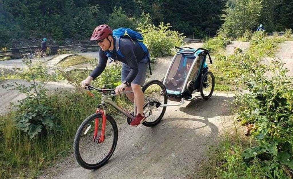 thule chariot cross on pump track