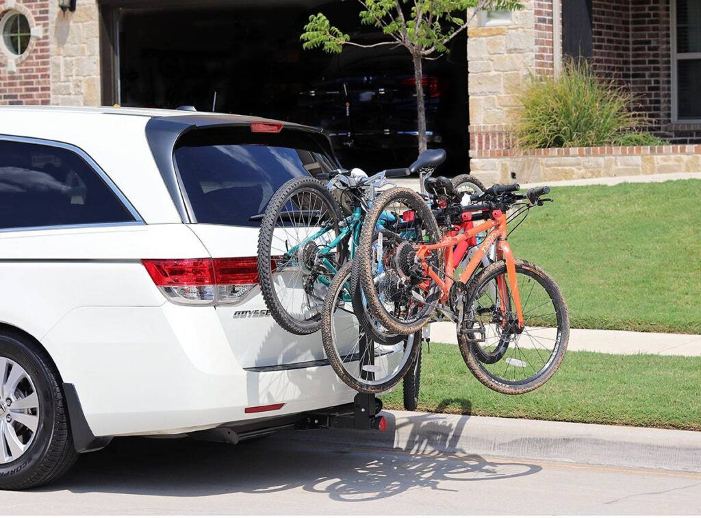 70lb Capacity BEST Automotive Dual Bike Hitch Mount Rack w// Folding Carry Arms