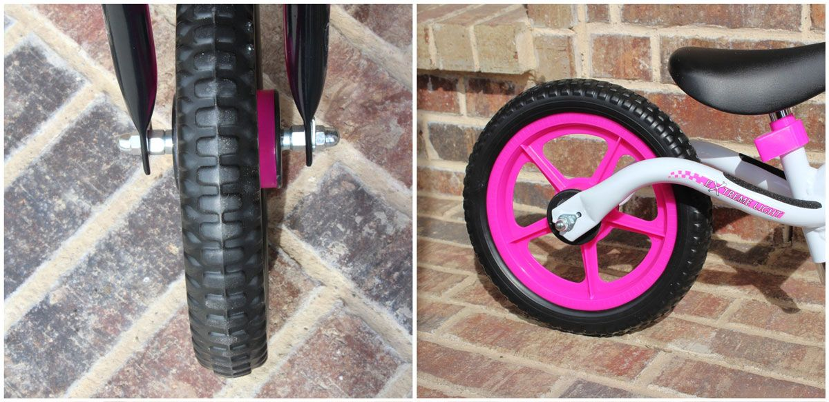 12 inch foam tires on Bixe Balance Bike