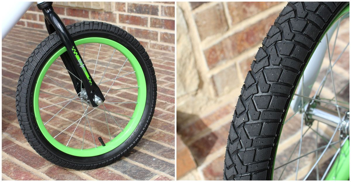 16 inch air tires on Bixe Balance Bike