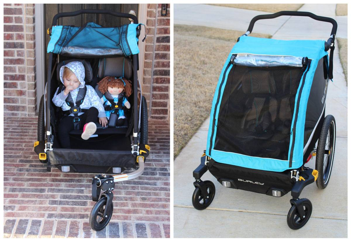 Burley D'Lite X as 3 wheel stroller and 4 wheel stoller