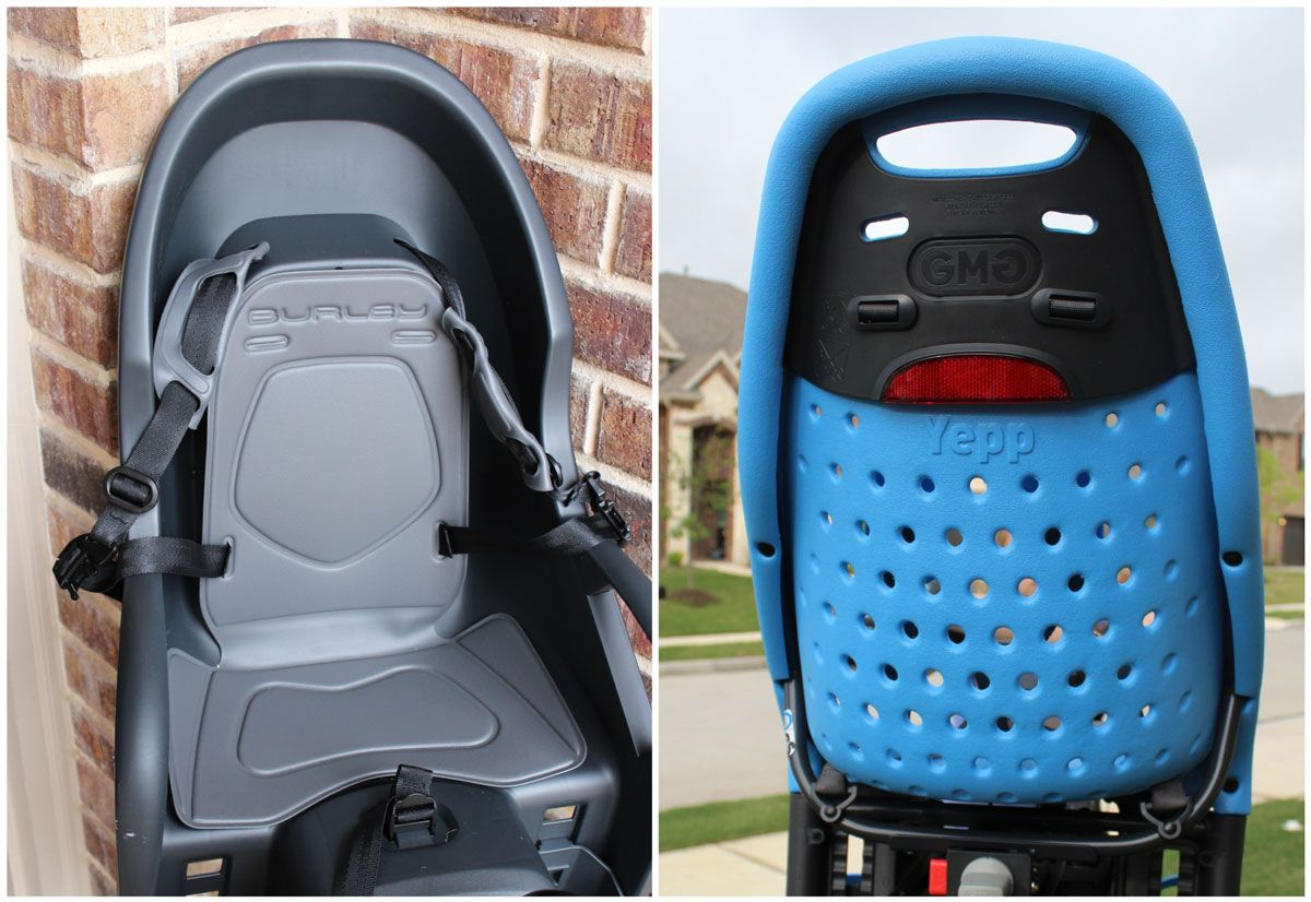 Burley Dash child bike seat - no ventilation vs Thule Yepp which has tons of ventilation holes