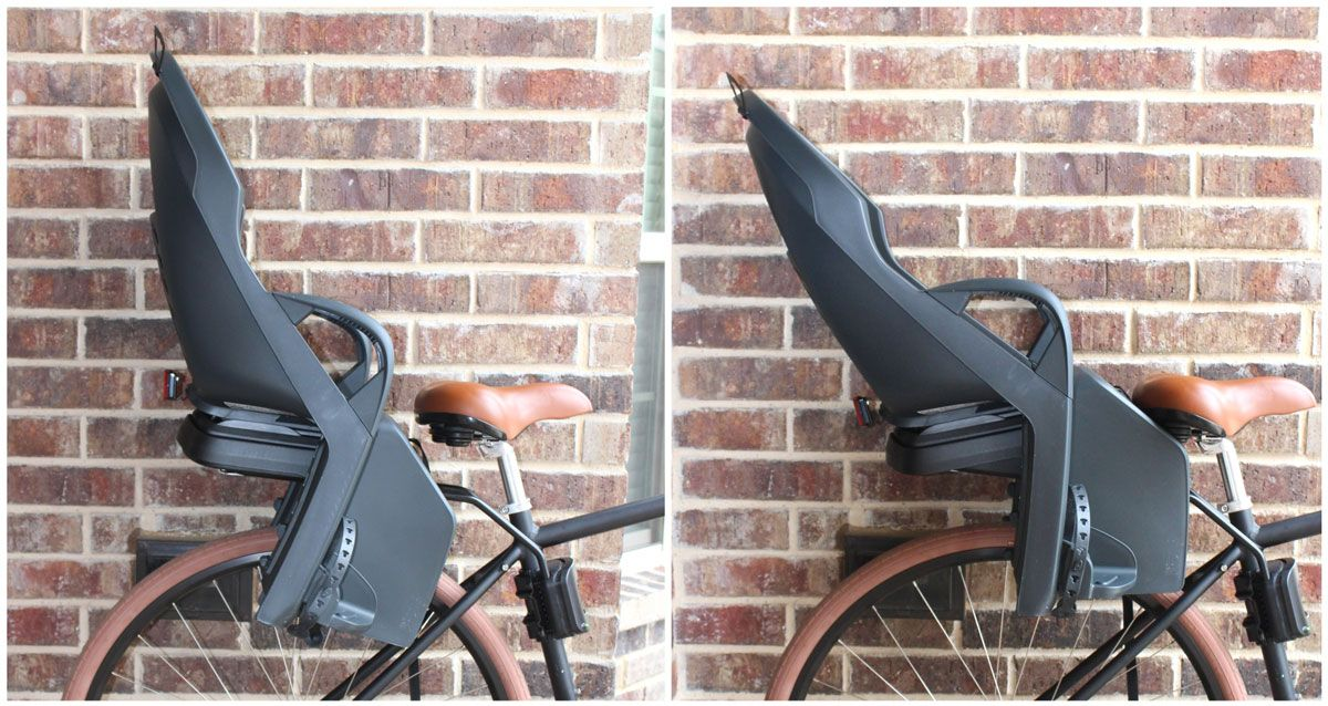 Burley Dash X Child bike seat in the reclined position