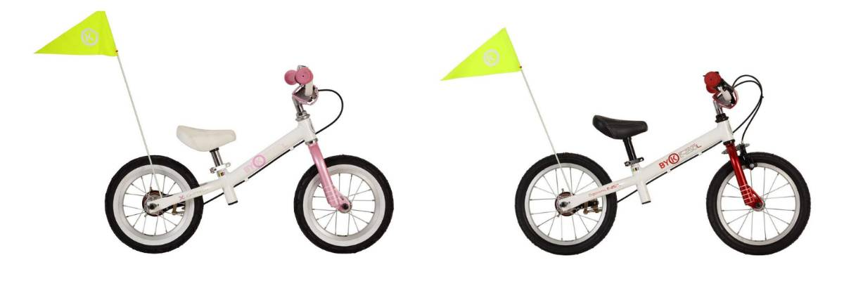 "ByK E200L 12"" balance bike and ByK E250L 14"" balance bike"