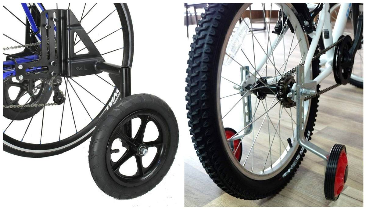 Frame mounted vs axle mounted training wheels