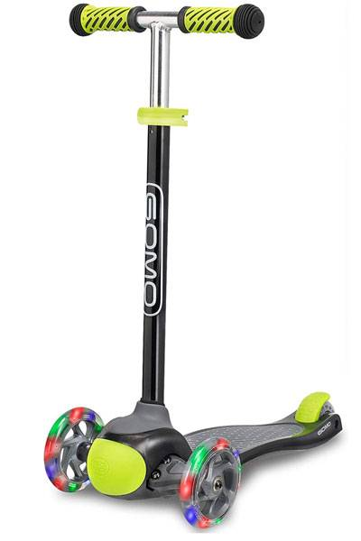 GOMO 3 wheel kid's scooter black and green