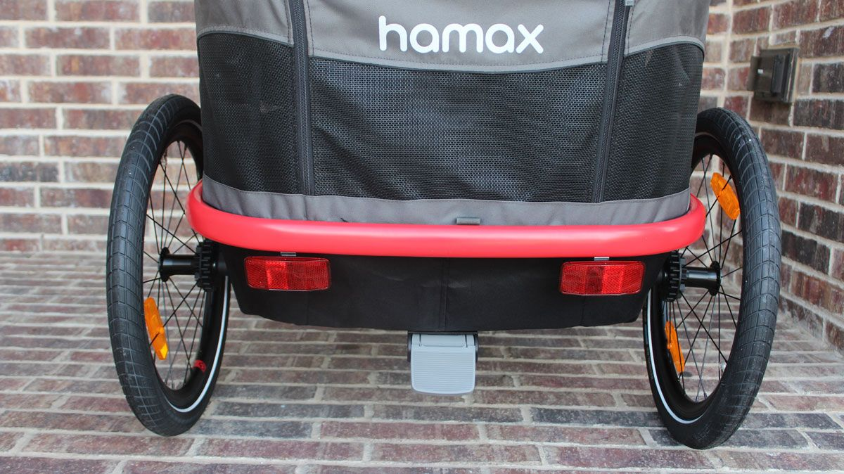 Footbrake on Hamax Outback bike trailer