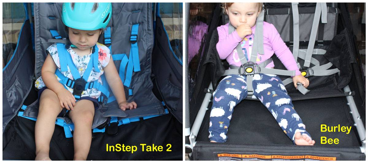 Instep Take 2 hammock style seat vs Burley Bee's hammock style seat