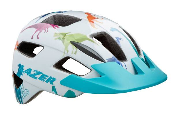 Lazer Lil Gecko toddler helmet with dinosaur design