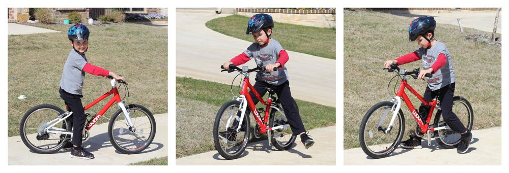 6 year old using the woom 4 bike as a balance bike