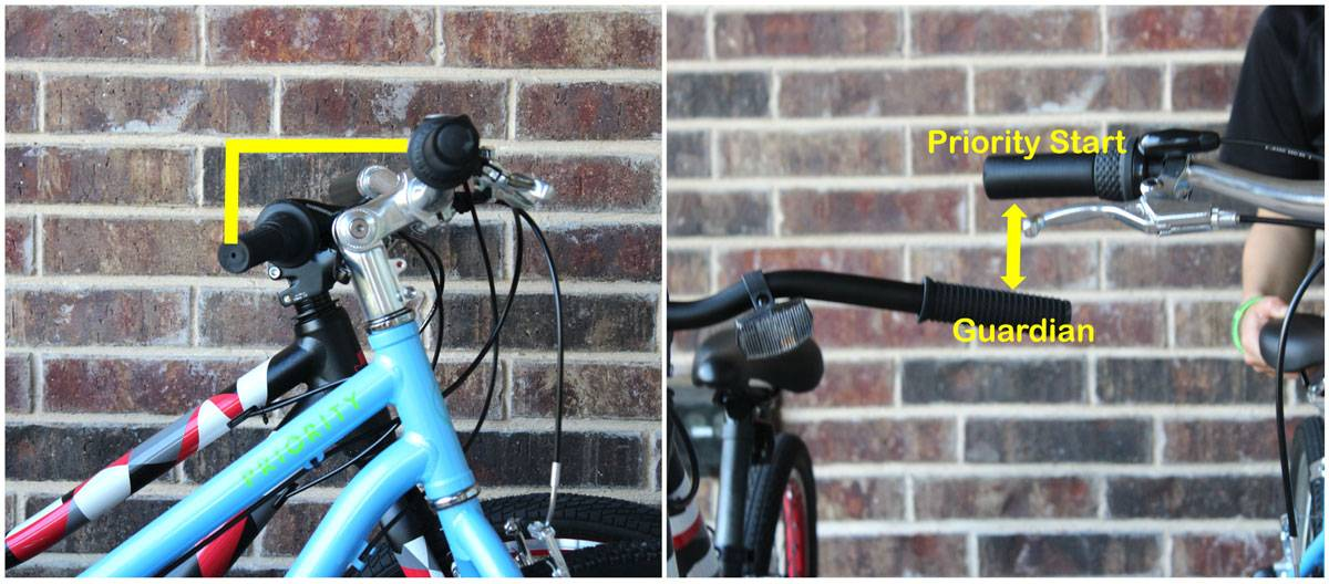 Handlebars of Priority Start are higher set than those of the Guardian 24""