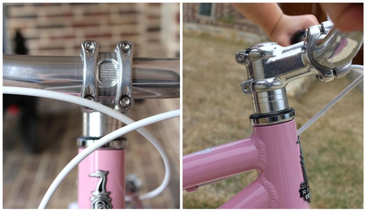 "Raleigh Lily 16"" threadless headset and step"
