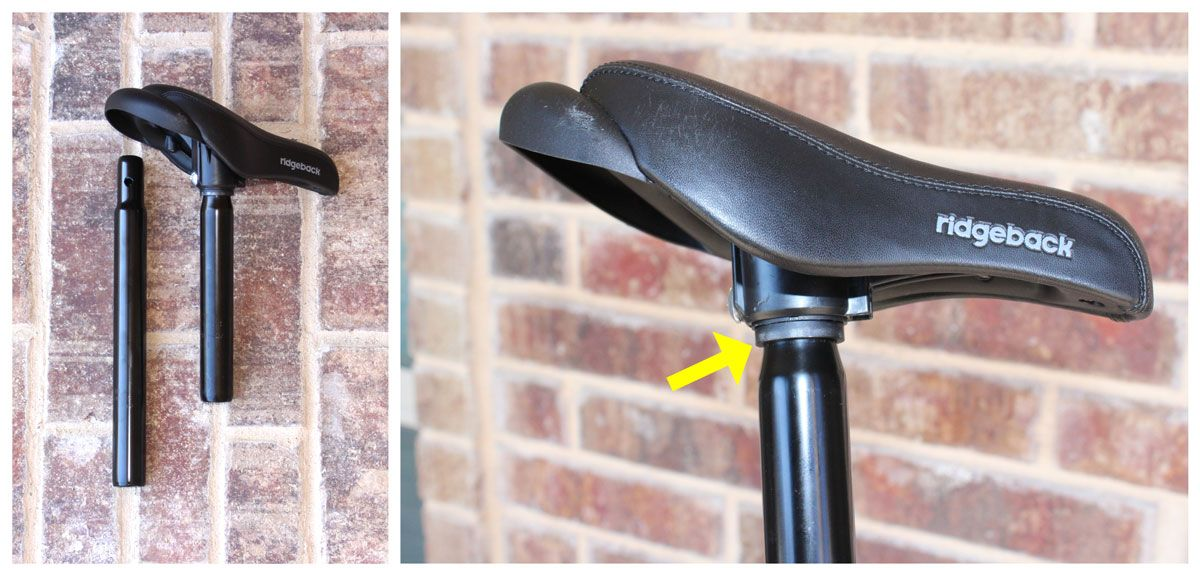 Two seat posts (including extended seat post) for Ridgeback Scoot and Scoot XL balance bikes