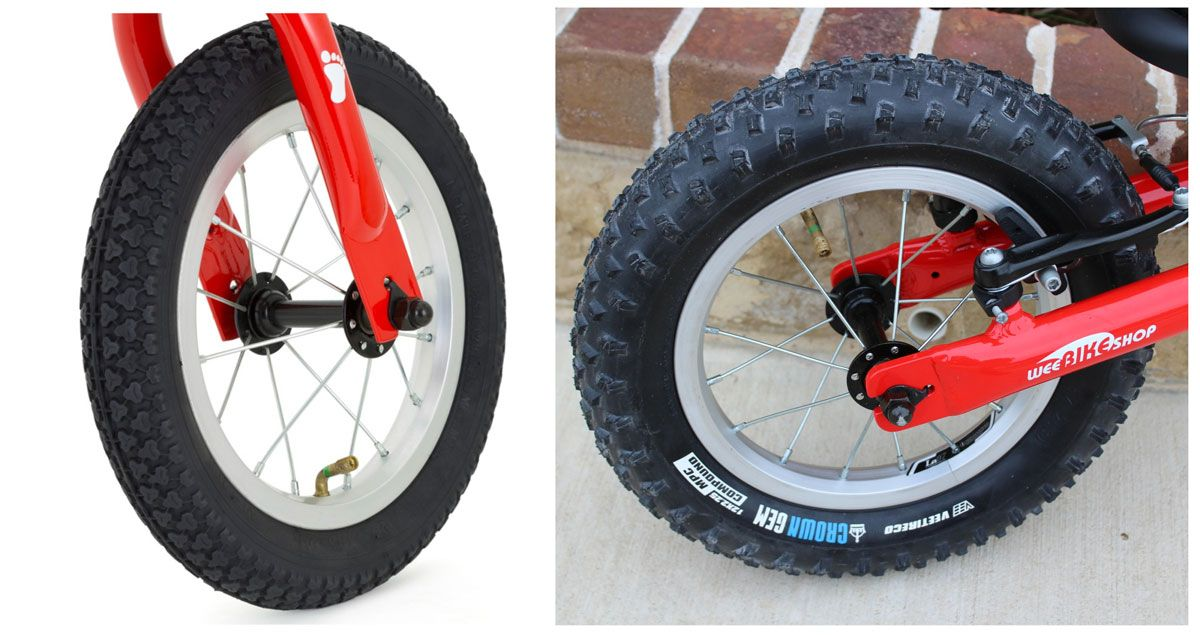 Ridgeback Scoot air tires - standard tread vs knobbier Crown Gem tires