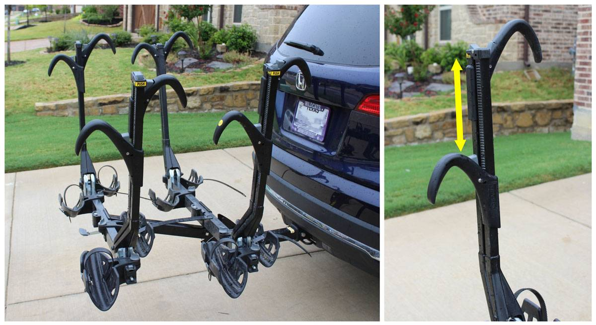 Saris Super Clamp EX 4 bike car rack 3 sets of shepherds hooks ready to load bikes