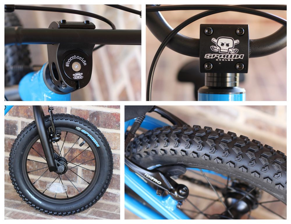 Spawn Yogi 14's high-end components - including headset with spacers and tires