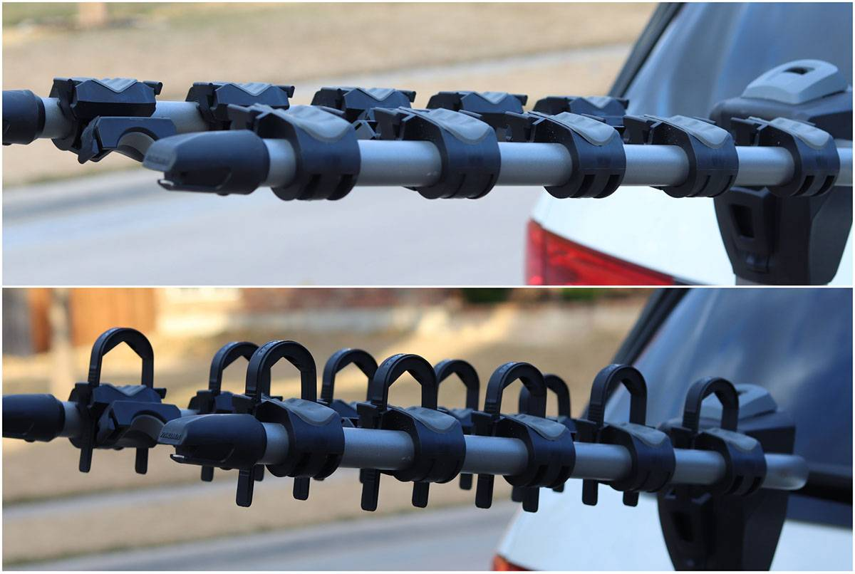 Yakima Ridgeback Hanging Rack Arms with and without Zip Strips