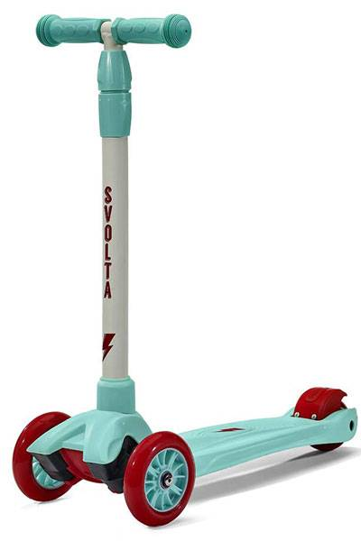 Svolta Mega 3 wheel toddler scooter in aqua and red
