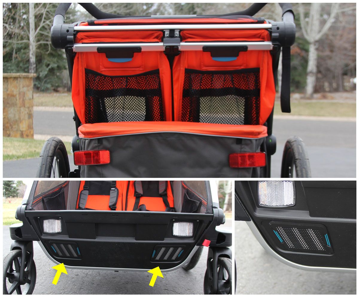 Rear venting and front vents on Thule Chariot Cross Double