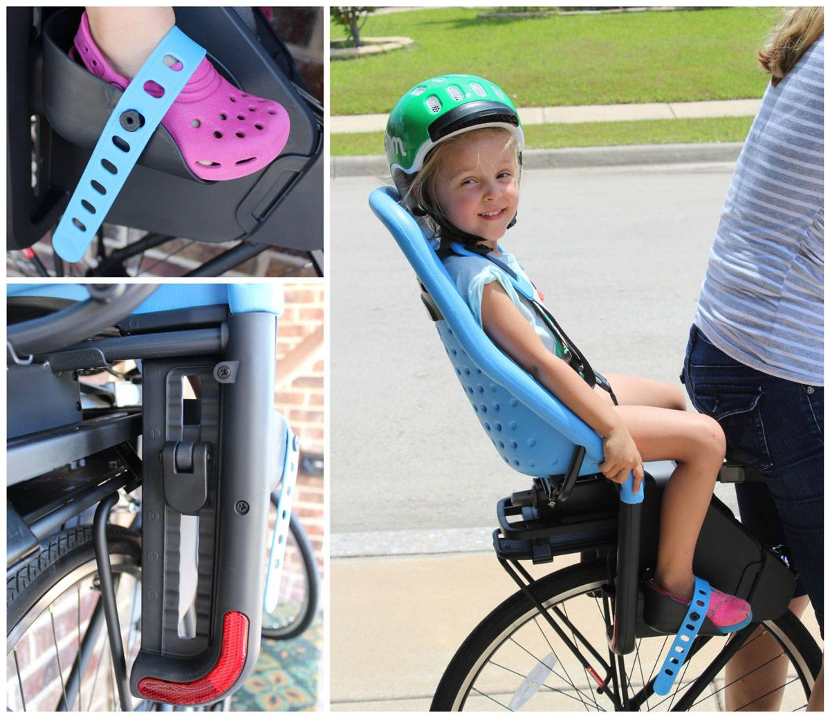 Footrest and foot straps on the Thule Yepp Maxi child bike seat
