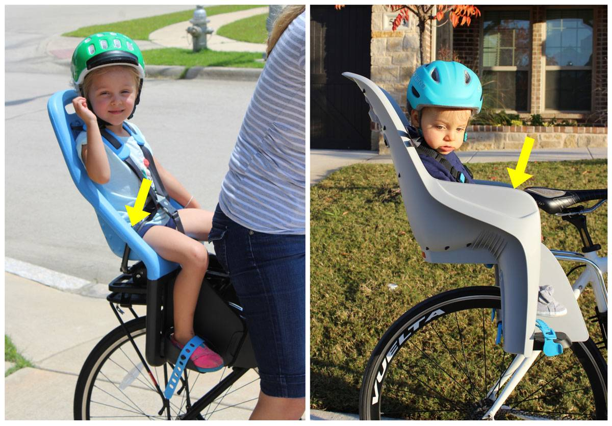 Thule Yepp Maxi child bike seat does not have sides on the seat, while the Thule RideAlong Lite has large protective side wings