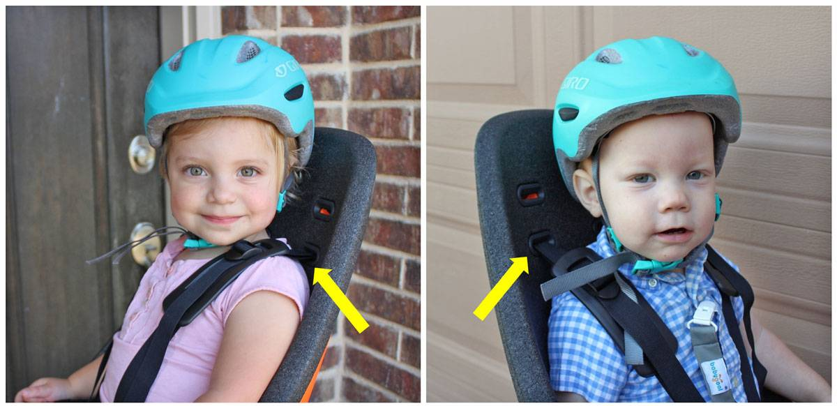 Shoulder strap height of Thule Yepp Nexxt Maxi with 22 month old and 15 month old. The lowest setting is a little high for the 15 month old.