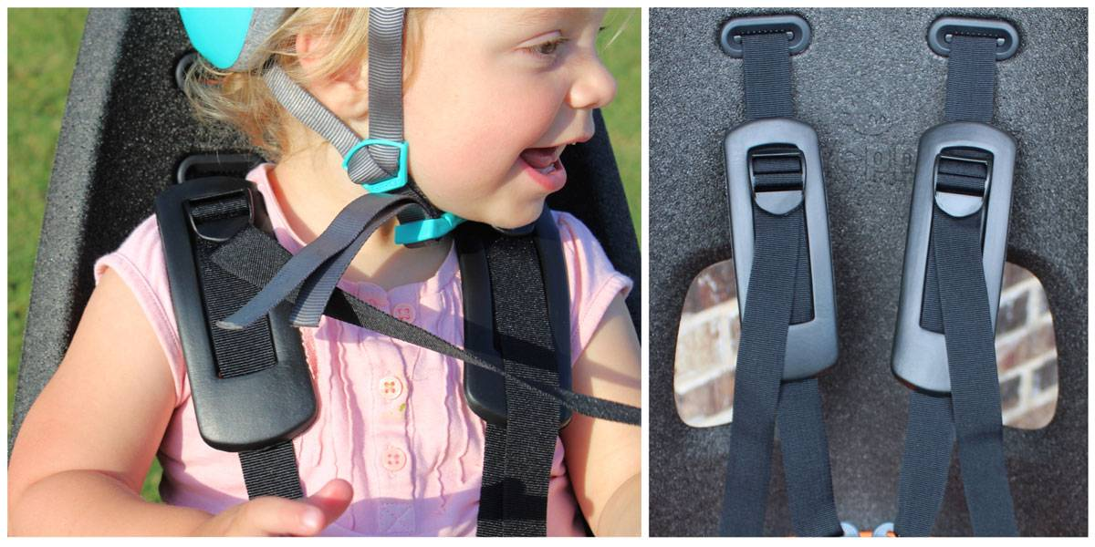 Shoulder straps on the Thule Yepp Nexxt Maxi child bike seat