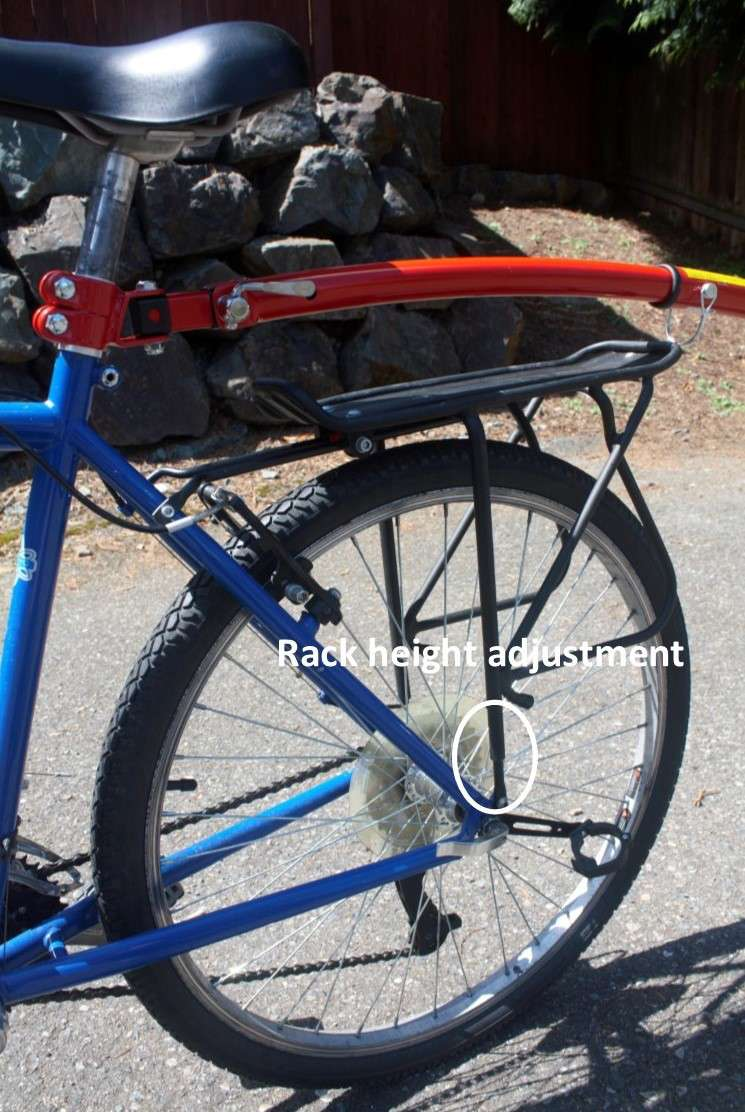 Rear rack could interfere with a trailer cycle that attaches to the seat post.