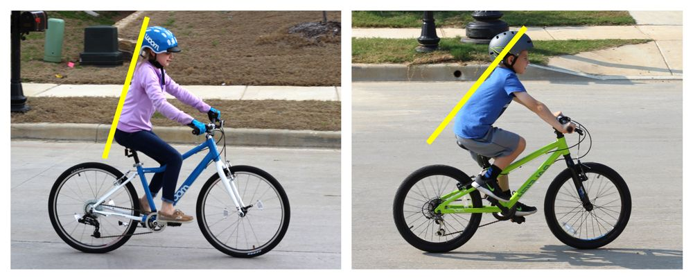 difference in bike geometry between 24 inch bikes