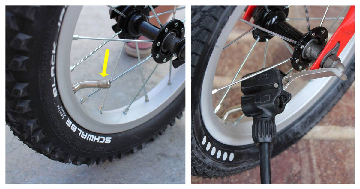 Tires on Yedoo TooToo have angled air tubes to make it easier to attach an tire pump