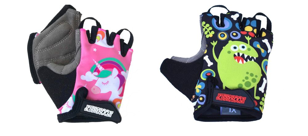 Zippyrooz kids gloves with monster and unicorn designs