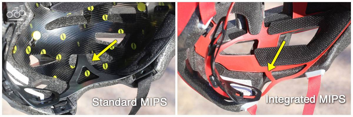 The entire MIPS system is integrated into the helmet's adjustment cage on the Spark Jr.