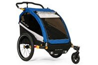 Burley D'Lite double trailer blue