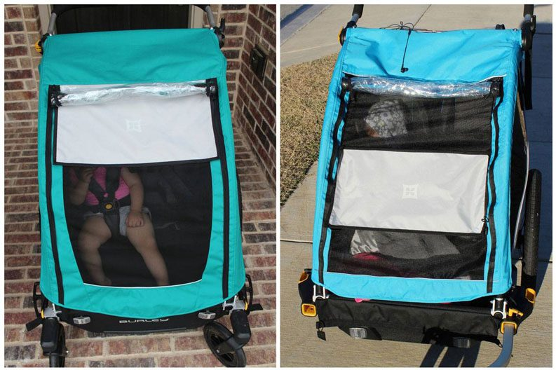 Sunshade on Burley Encore X vs Burle Dlite X