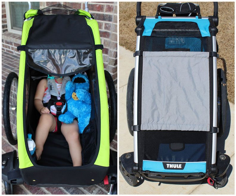 Sunshade on Thule Chariot Cheetah XT vs Thule Chariot Cross