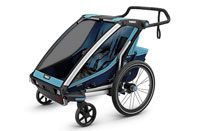 Thule Chariot Cross double trailer in blue