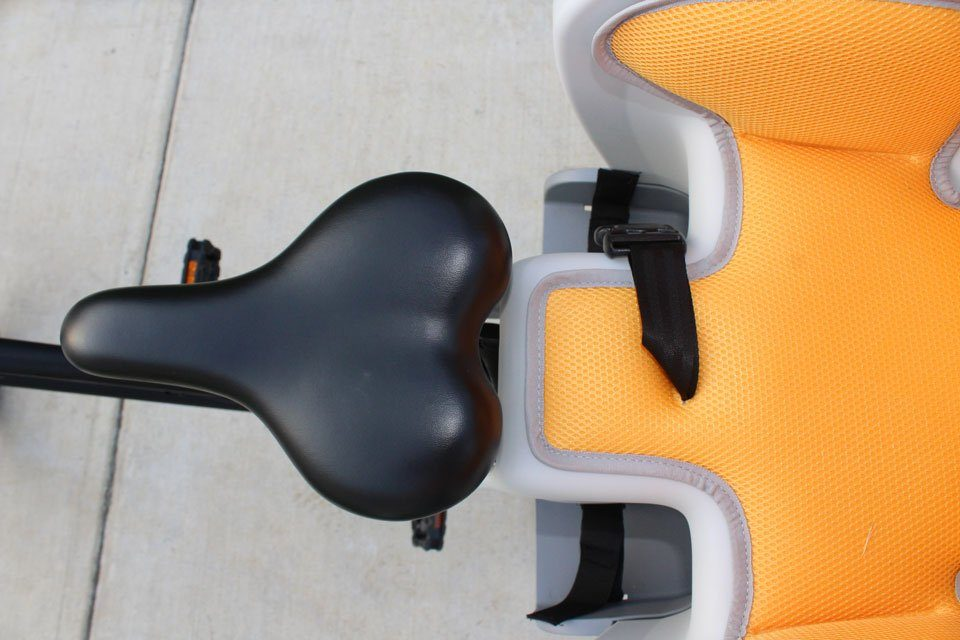 Bike's saddle doesn't leave enough room to remove the Topeak BabySeat II